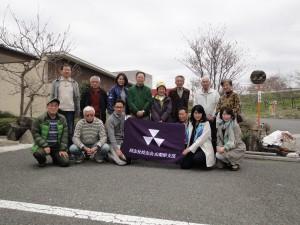 韮崎大村美術館をバックに解散前の記念撮影