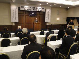 第4回総会であいさつする櫻井彪支部長