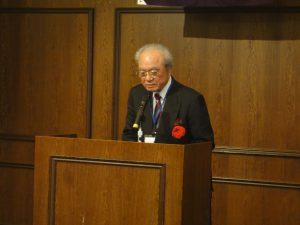 大学、女子大学合わせて20学部にまで発展した同志社の現状を紹介する大谷實総長
